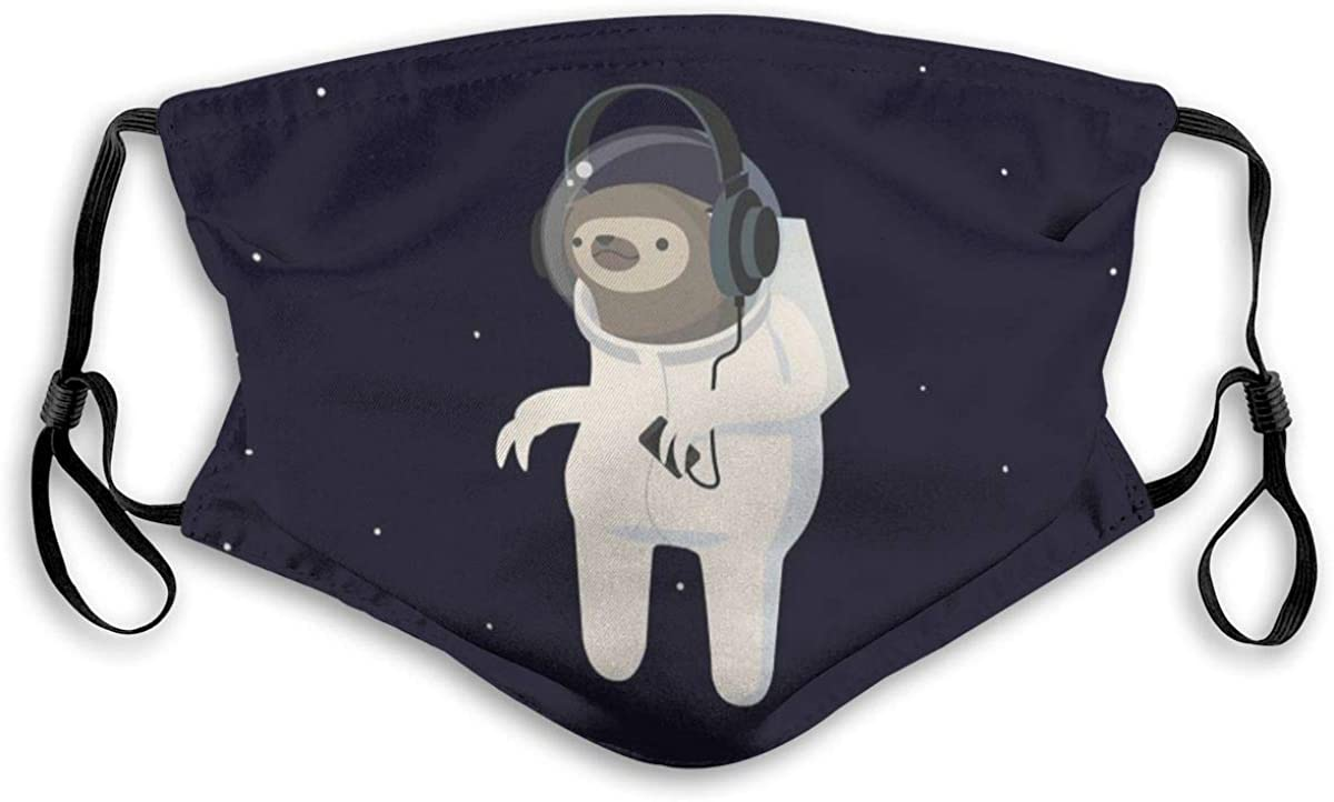 Astronaut Sloth,Printed Facial decorations for adult Man Woman Adult And Teens