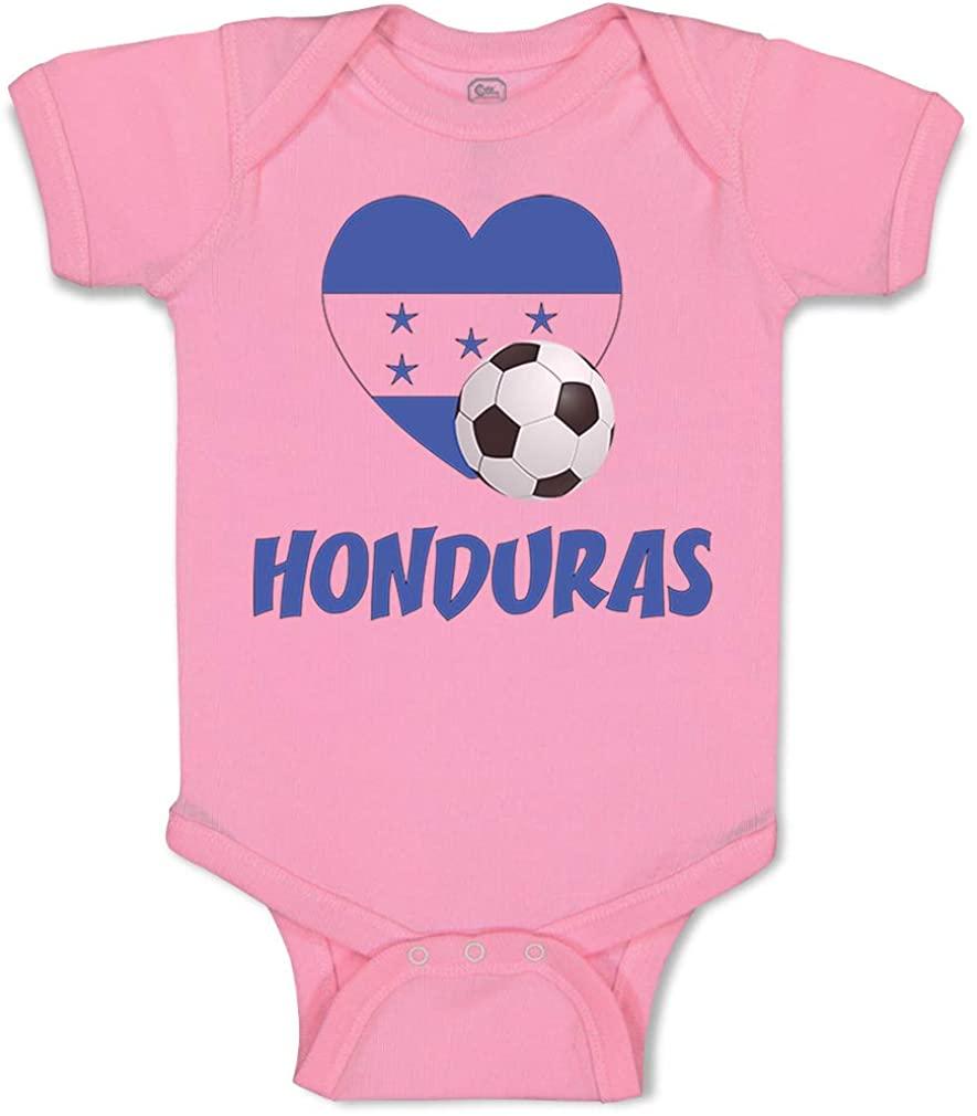 Custom Baby Bodysuit Honduran Soccer Honduras Football Cotton Boy & Girl Clothes