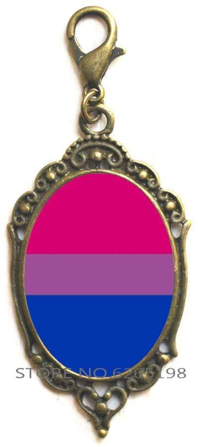 Bisexual Pride Zipper Pull, Bisexual Lobster Clasp, Bisexual Jewelry, Bisexual Gifts, Bisexual Pride Flag, Bi Pride Pink Purple Blue Lobster Clasp Bi Flag,N185