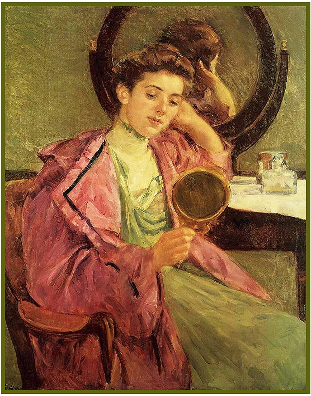 Orenco Originals Woman Doing Her Hair American Impressionist Artist Mary Cassatt Counted Cross Stitch Pattern