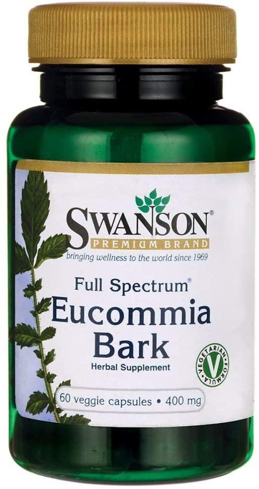 Swanson Full Spectrum Eucommia Bark 400 Milligrams 60 Veg Capsules