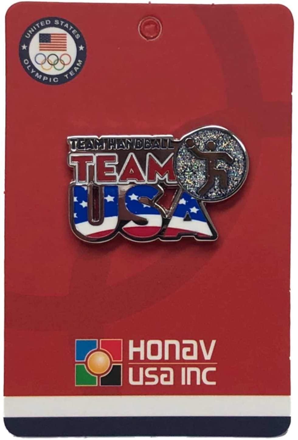 2020 Summer Olympics Tokyo Japan Team USA Team Handball Pictogram Lapel Pin