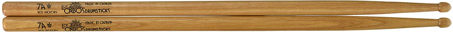 Los Cabos Drumsticks LCD 7ARH 7a Drumsticks, Red Hickory