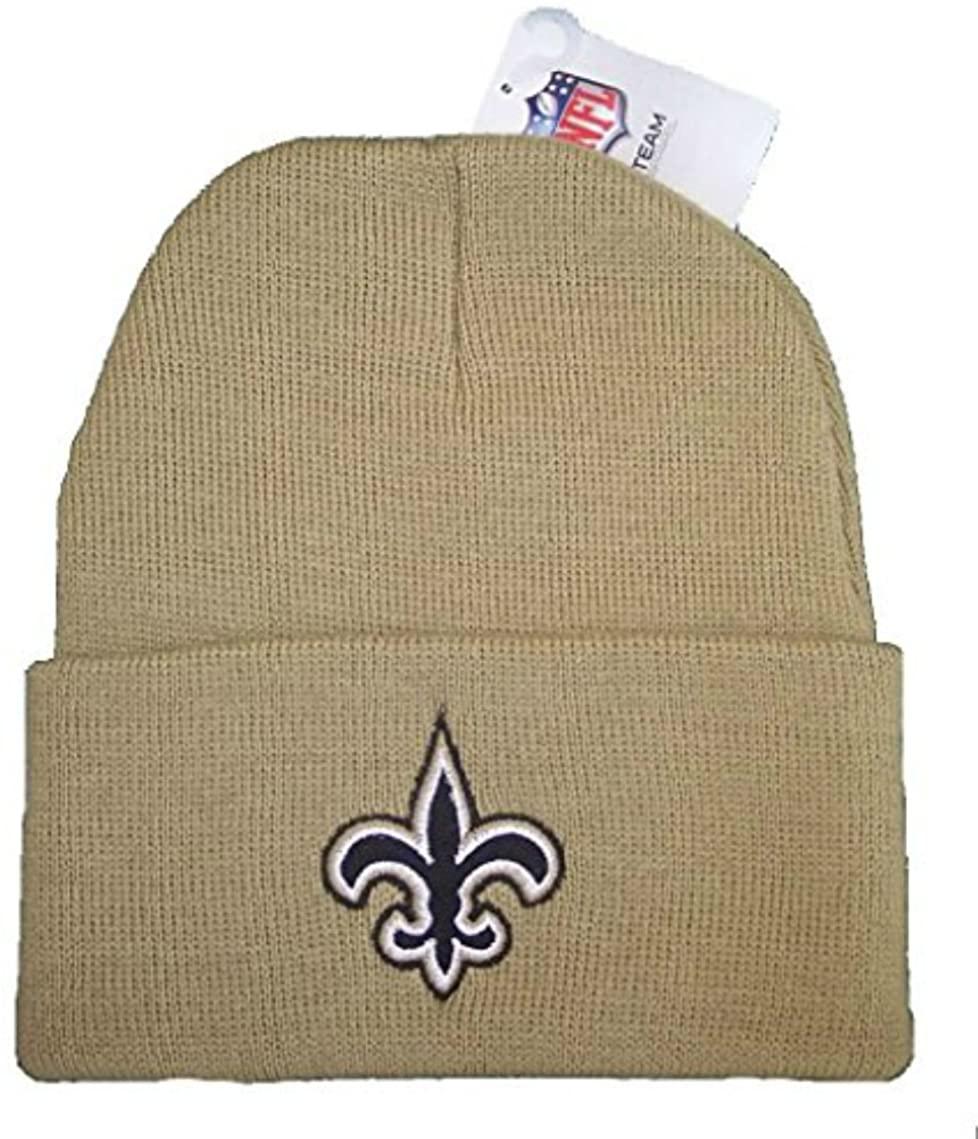 Genuine Merchandise New Orleans Saints Team Color Gold Knit Cuff Beanie Hat Cap