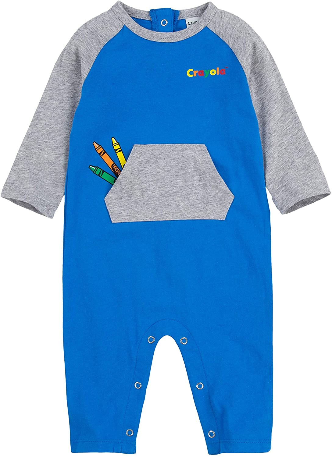 Crayola Childrens Apparel Baby Long Sleeve Coverall Bodysuit