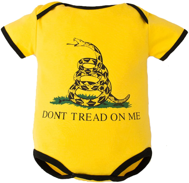 Trendy Apparel Shop Infant Don't Tread On Me Gadsen Flag Jumper Pajama