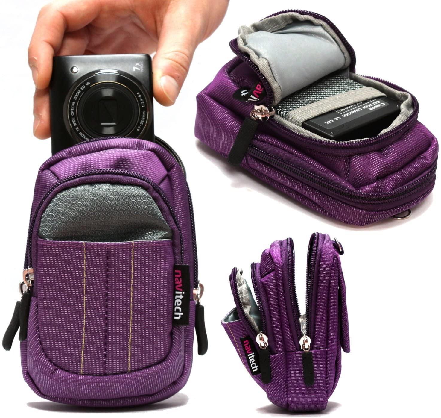 Navitech Purple Digital Camera Case Bag Compatible with The Vivitar ViviCam F127