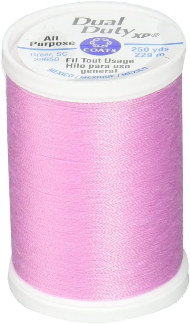 Coats Dual Duty XP General Purpose Thread, 250 yd, Corsage Pink