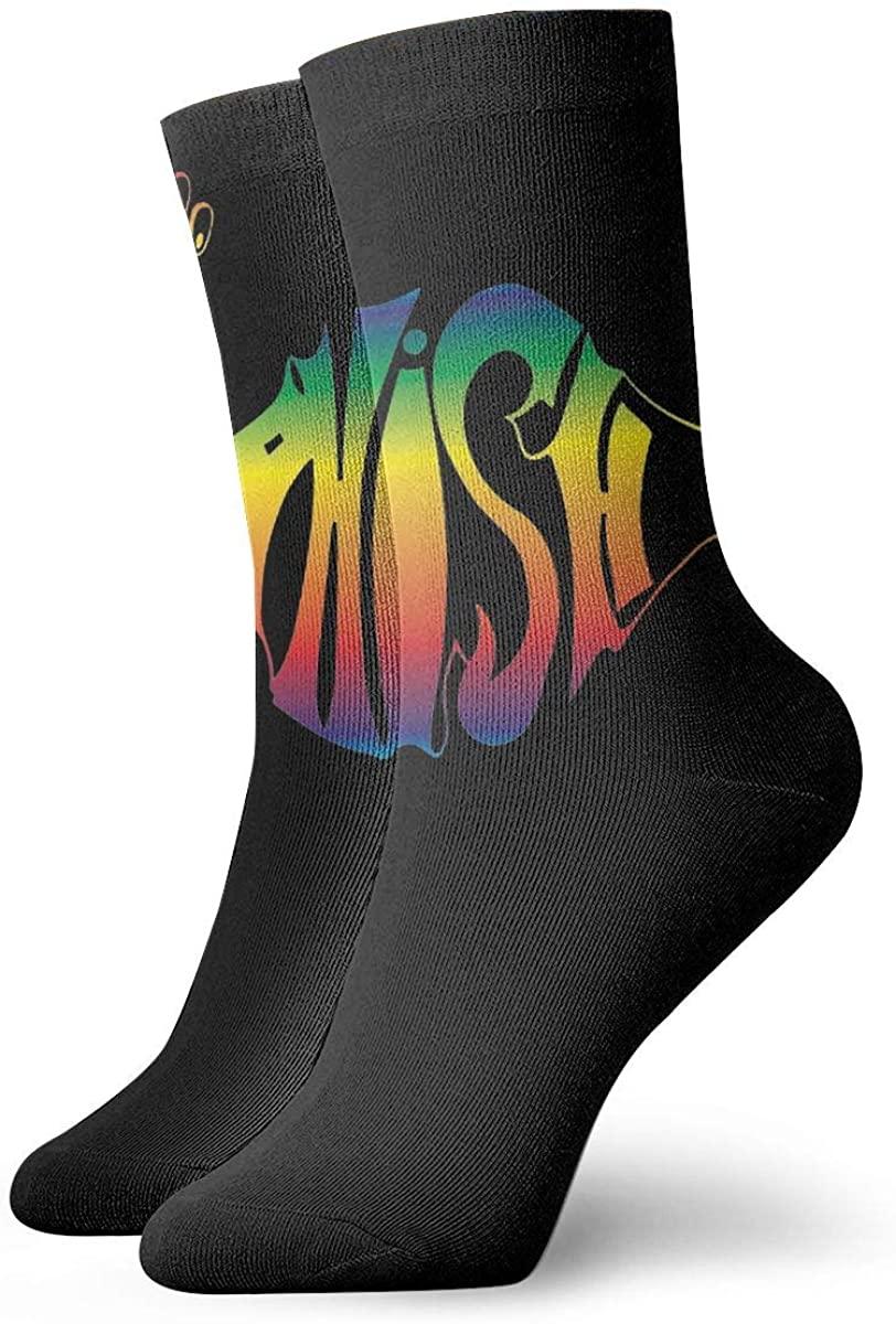 Unisex Phish Band Logo Athletic Stockings Crew Socks Sports Outdoor For Men Women