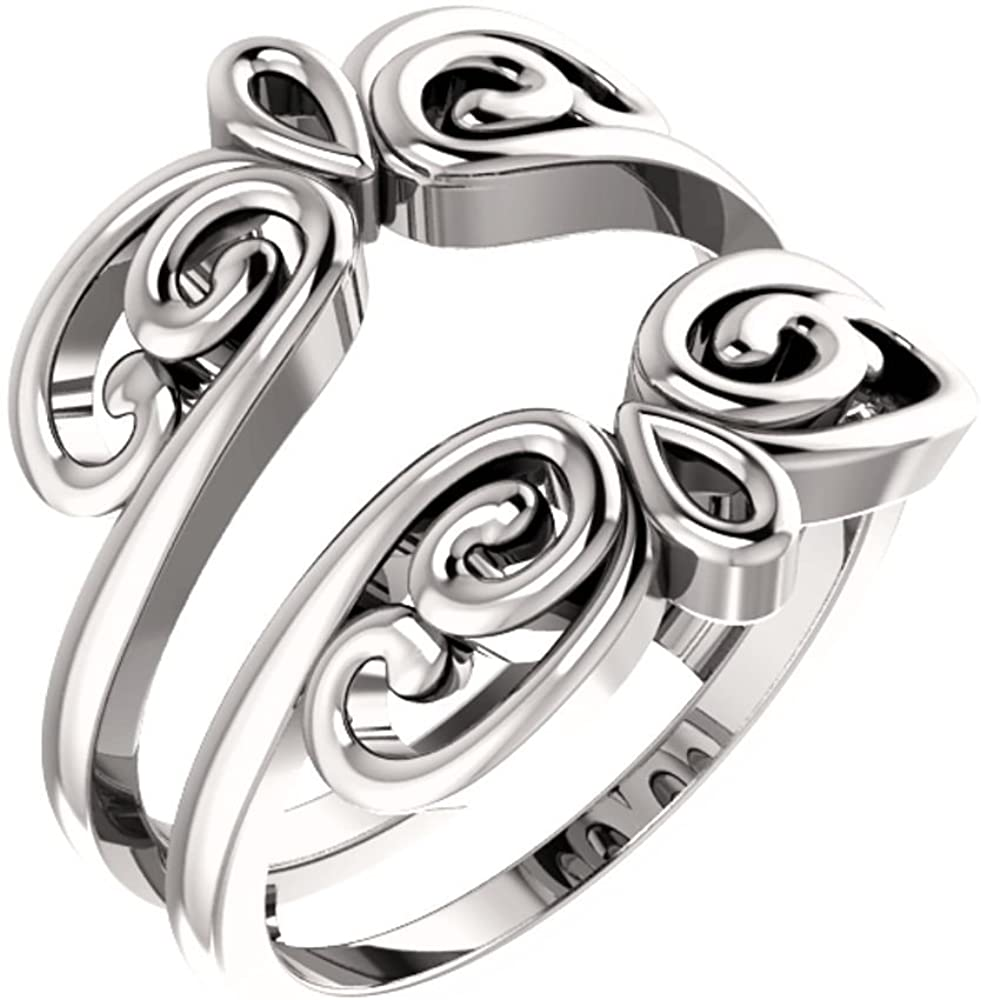 Ring Guard in 14k White Gold, Size 7