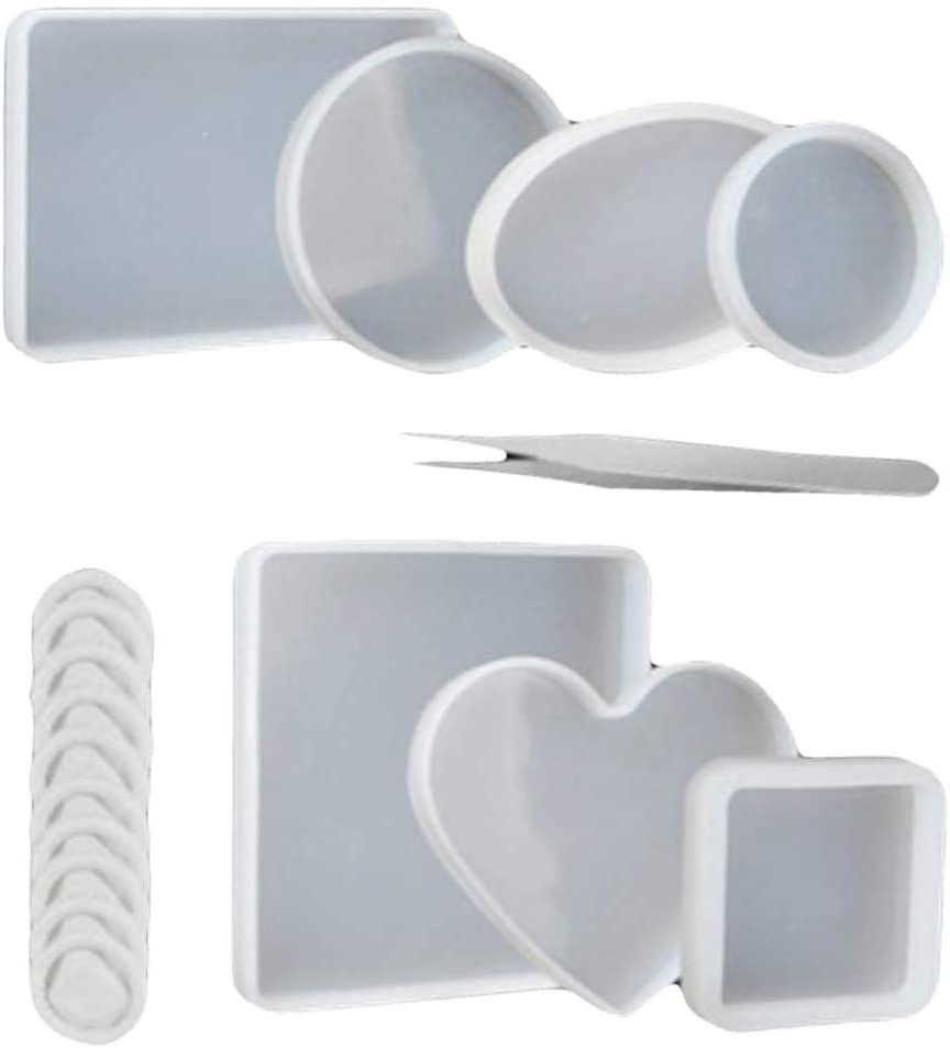 Rxan 18Pcs/Set DIY Making Epoxy Mold Tools Silicone Craft Mould Tool Epoxy Mould