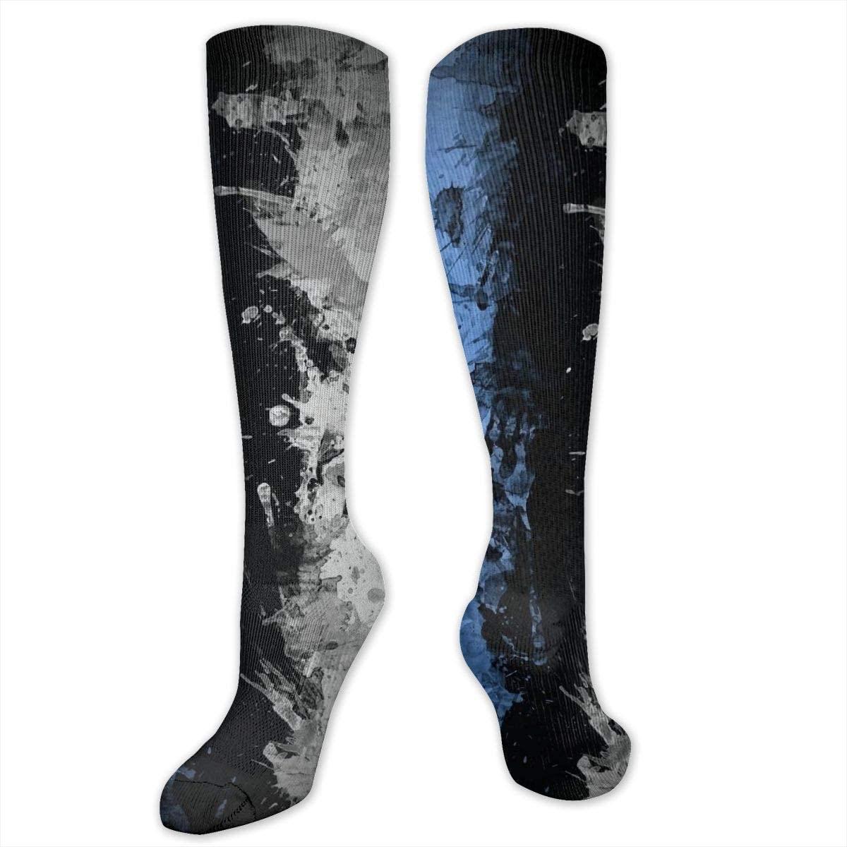 Knee High Socks For Men Women Estonia Flag Crew Hose Stockings