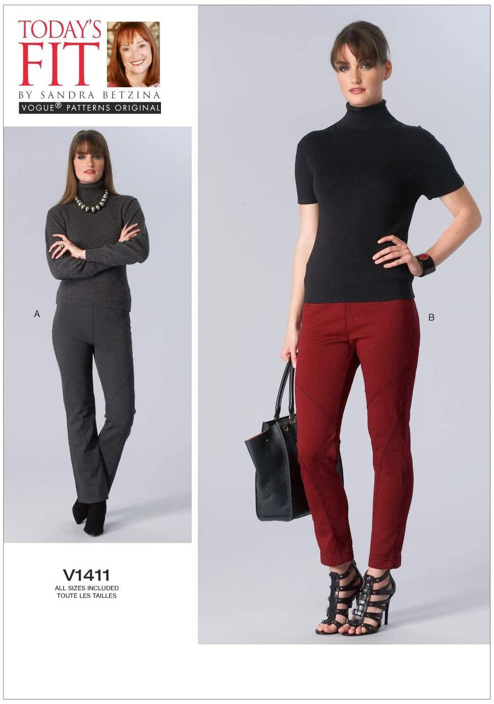 VOGUE PATTERNS V1411 Misses' Pants Sewing Template