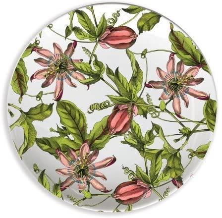 Boston International CAS01025 Pink Passion 4 in. Melamine Wine Glass TidBit Topper Plates - Set of 4