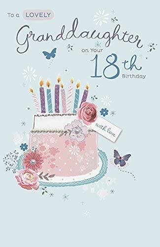 Granddaughter 18TH Birthday Card