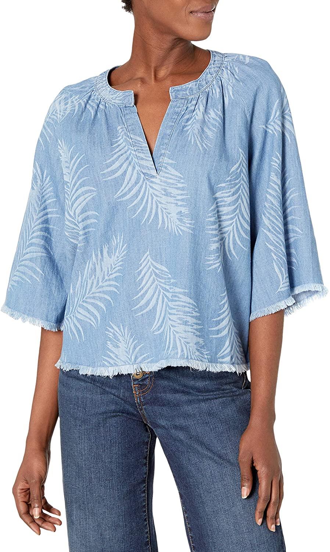 Joe's Jeans Women's Kailani Palm Laser Print Blouse