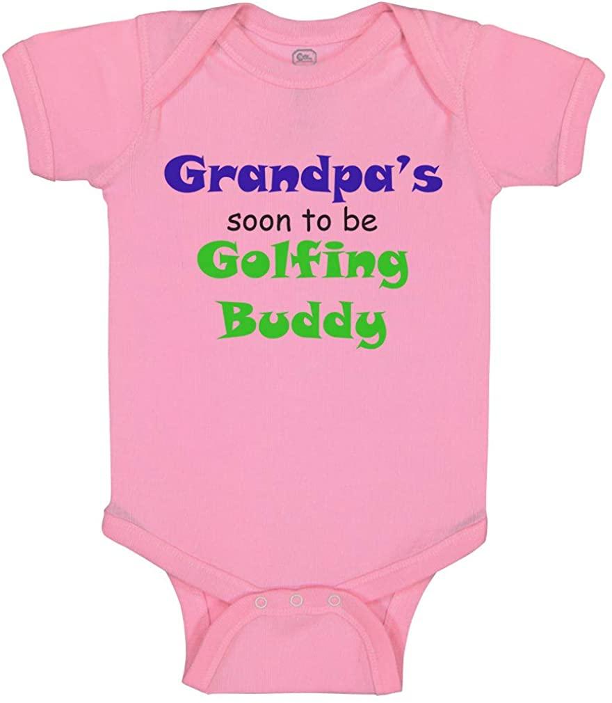 Custom Baby Bodysuit Grandpa's Soon Golfing Buddy Golf Grandpa Grandfather Funny