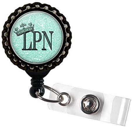 LPN Royalty - Resin Blue Medical Crown Badge Reel