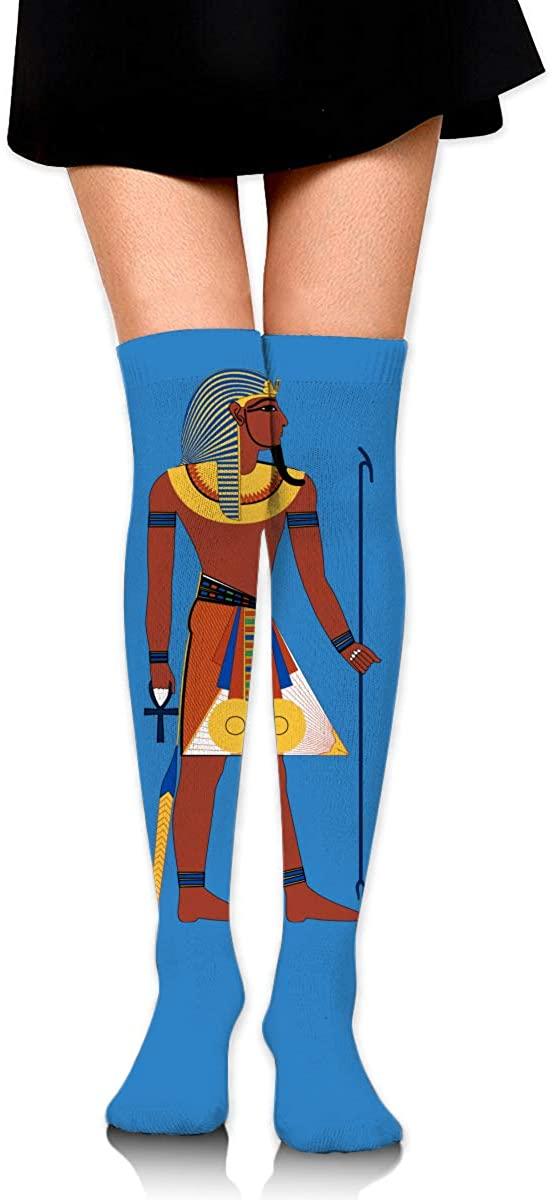 Knee High Socks Egyptian Women's Athletic Over Thigh Long Stockings