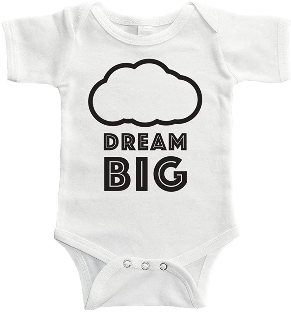 VinMea Baby Onesie Dream Big Bodysuit Funny Newborn Onesie Bodysuit in 5 Sizes - S