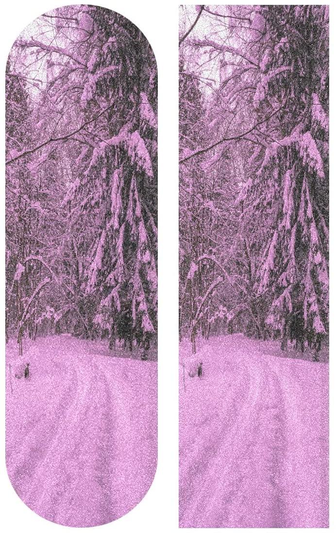 HONGSH Skateboard Sandpaper, Vintage Donuts Pattern 33.1 x 9.1 inch Skateboard Pedal Tape,Self-Adhesive Bubble-Free Waterproof Non-Slip Skateboard Grip Tape Long Board Skateboard Griptape Sticker