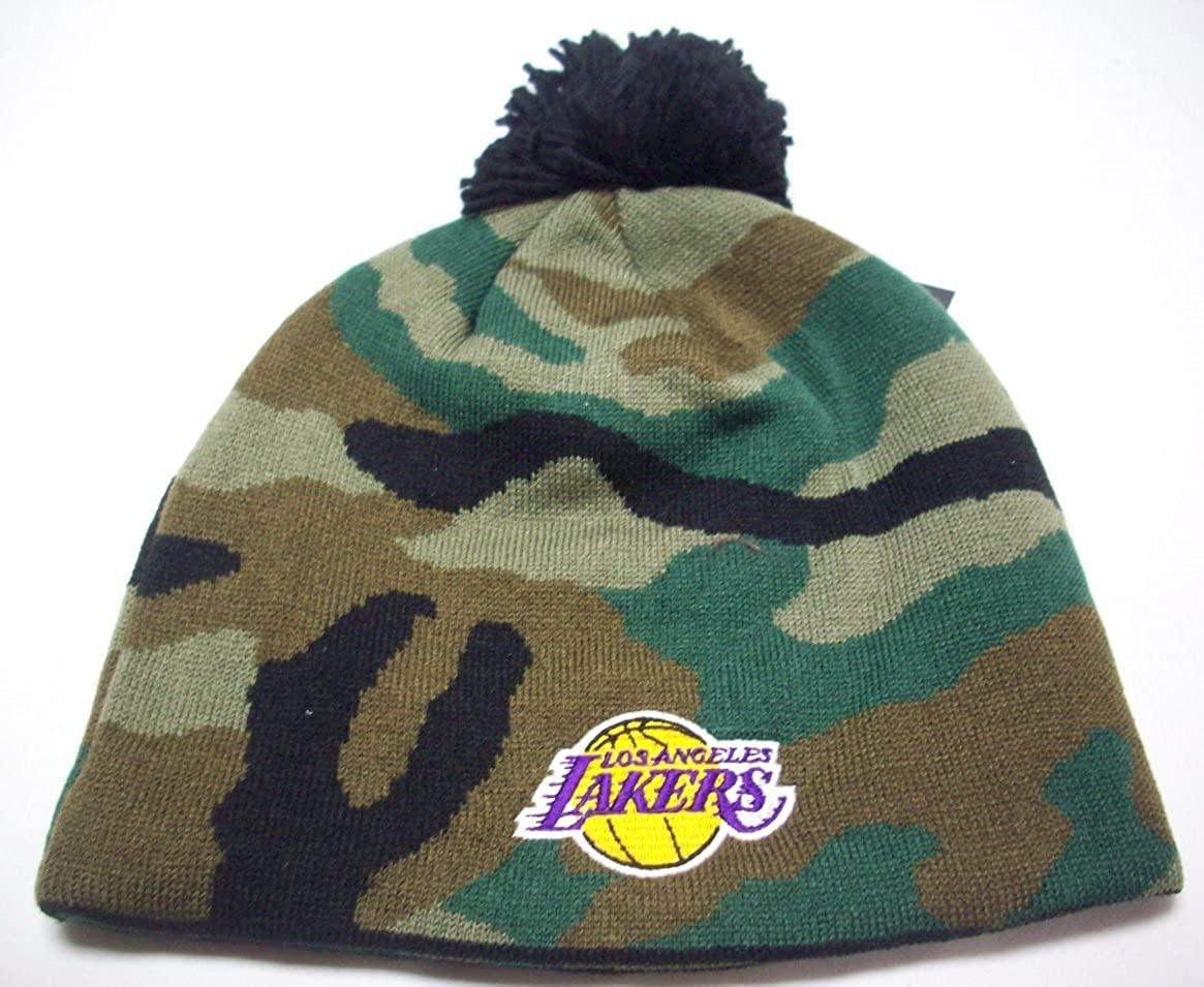 adidas Los Angeles Lakers Cuffless Knit Hat KQ24Z