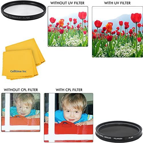 52mm Circular Polarizer Multi-Coated Filter and UV Protective Multi-Coated All-Purpose Filter for Panasonic Lumix G X Vario PZ 14-42mm f/3.5-5.6 O.I.S. and Panasonic Lumix G X Vario PZ 45-175mm f/4.0-5.6 Lenses + CT Microfiber Cleaning Cloth