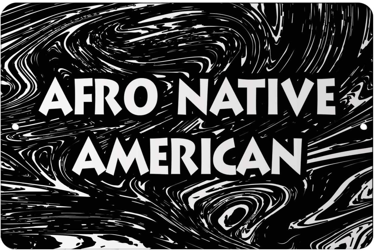 Makoroni - Afro Native American Africa Design 12x18 inc Aluminum Decorative Wall Street Sign