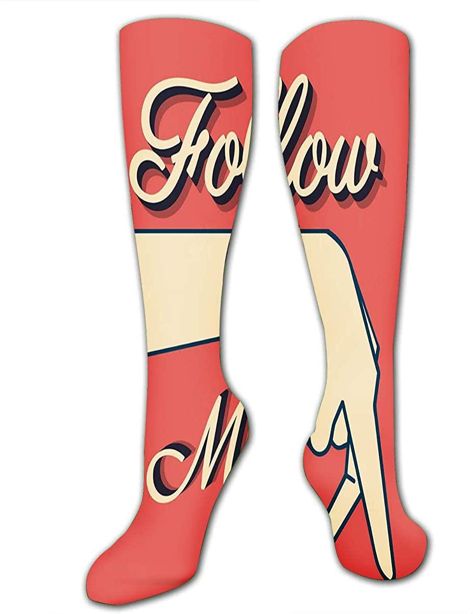 Compression Socks For Women Men Follow Me Vintage Casual Sock