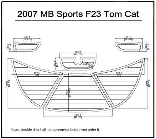 ZY 2007 MB Sports F23 Tom Cat Swim Platform Pad 6mm Boat EVA Teak Decking 1/4