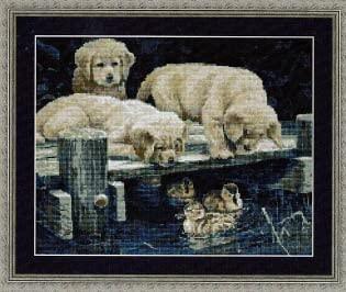 Golden Pier Gang - Cross Stitch Pattern