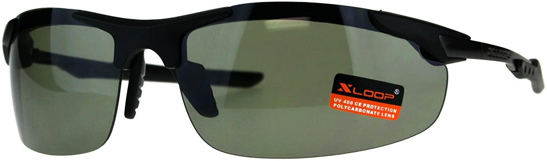 Xloop Mens Robotic Futuristic Exposed Lens Rimless Sport Mirror Sunglasses