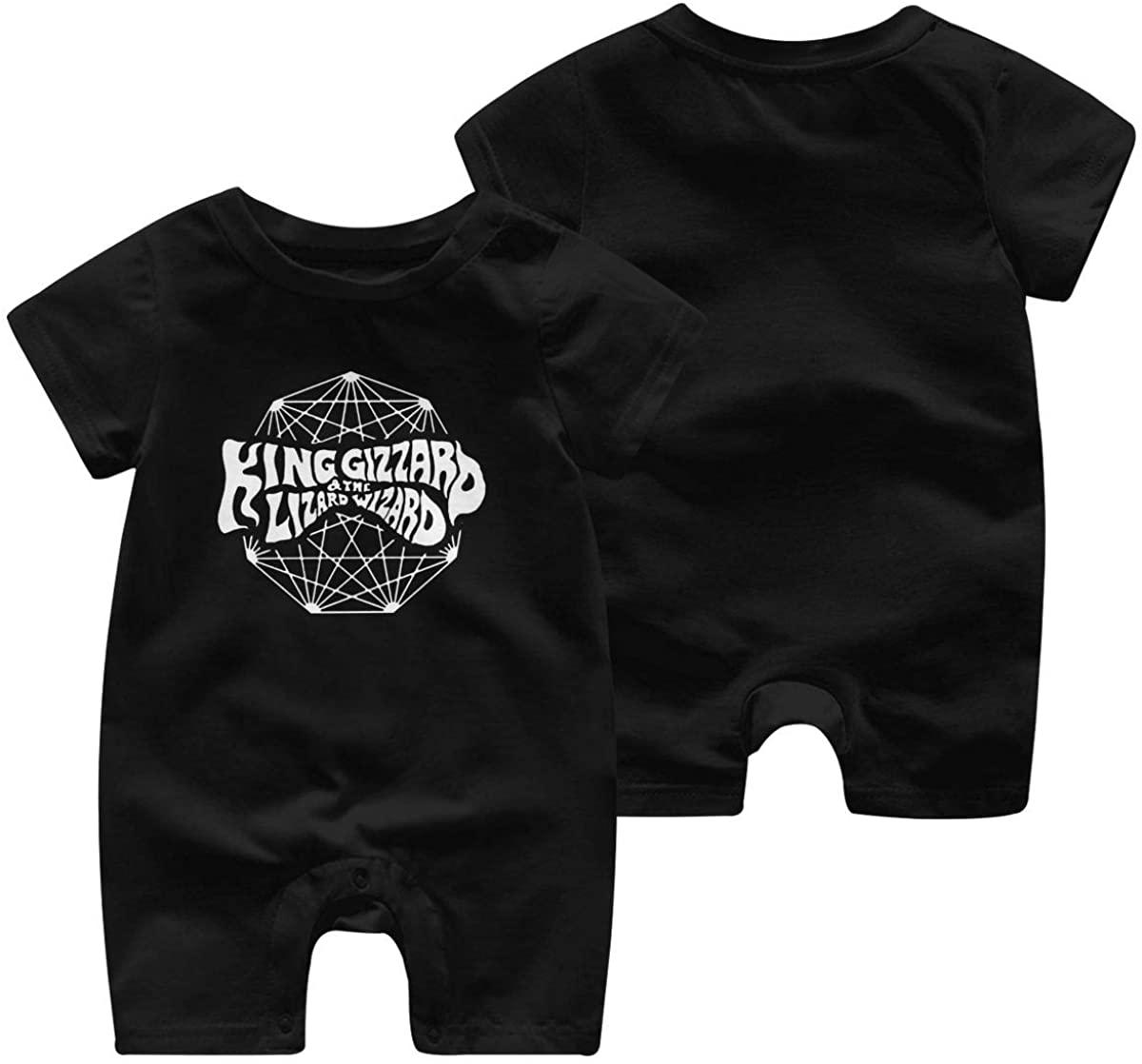 King Gizzard and Lizard Wizard Baby boy Girl Short Sleeve Jumpsuit Short Sleeve Bodysuit Baby Funny Jumpsuit