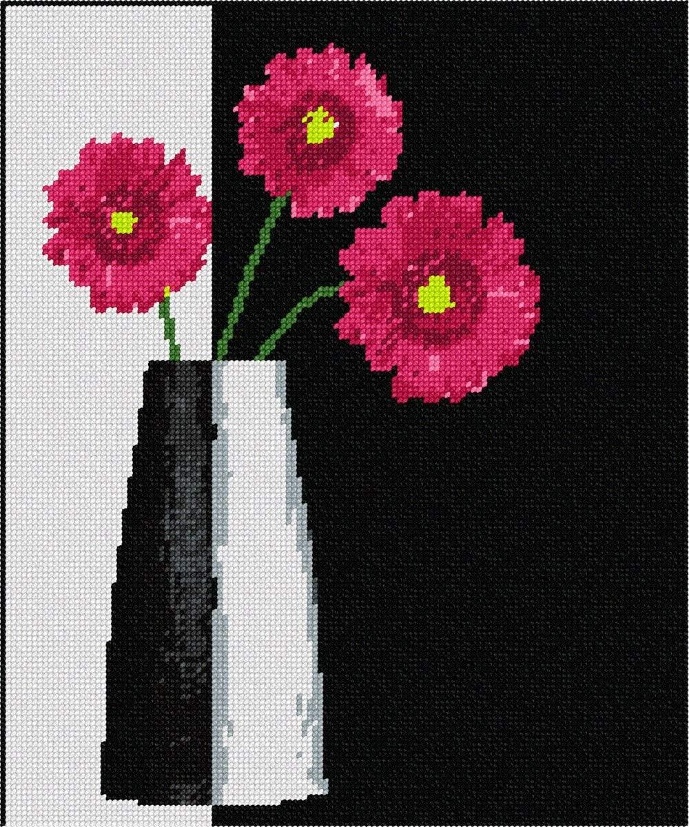 pepita Modern Vase Red Flowers Needlepoint Kit