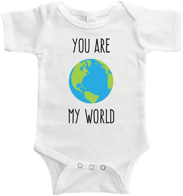Baby Onesie You are My World Bodysuit Funny Newborn Onesie Bodysuit in 5 Sizes - S