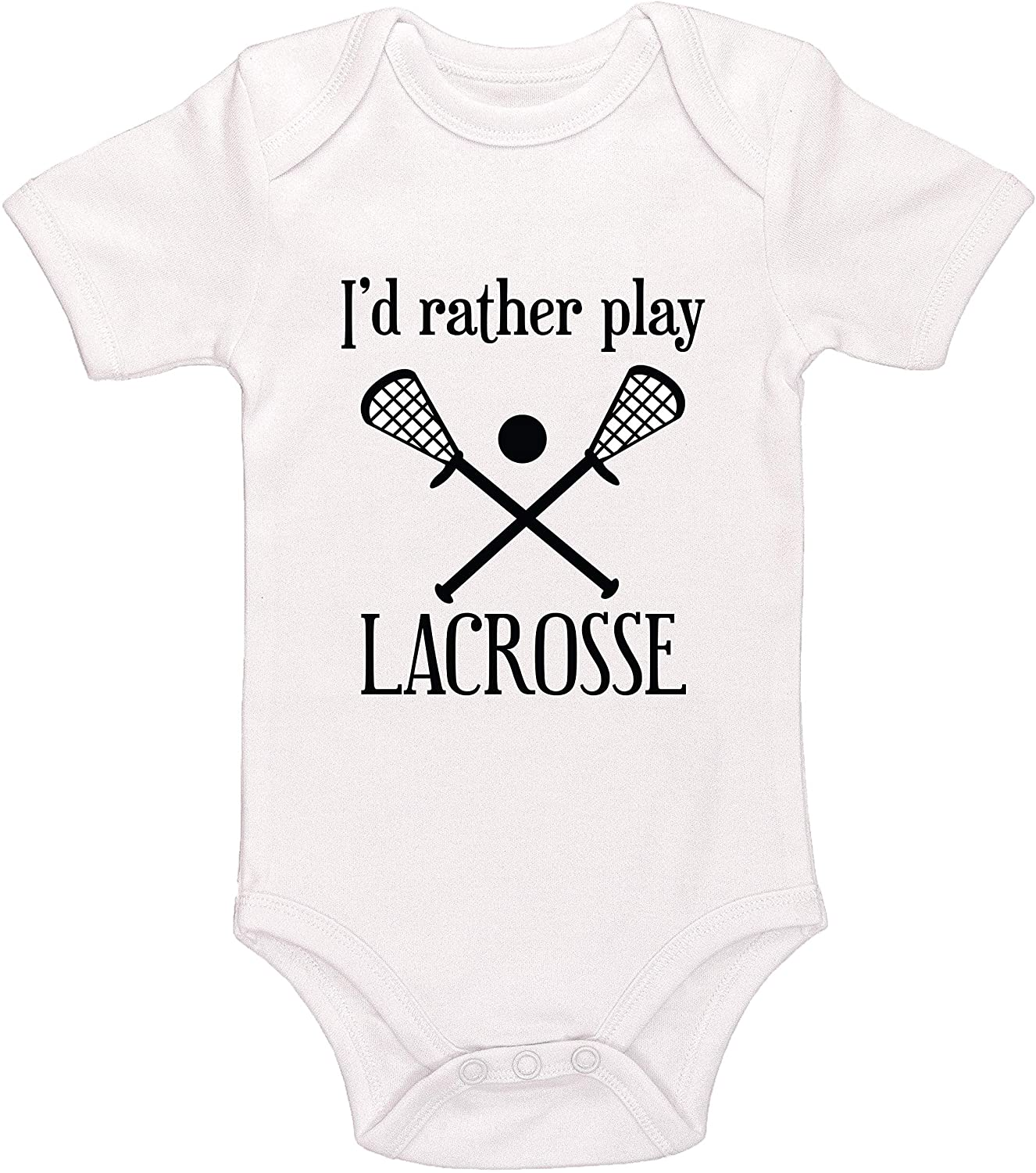 Kinacle Id Rather Play Lacrosse Baby Bodysuit