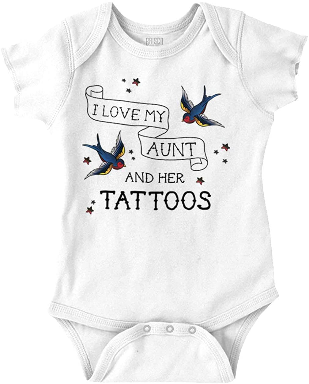 I Love My Aunts Tattoos Cool Inked Auntie Baby Romper Bodysuits