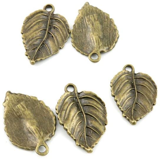 240pcs Jewelry Making Charms Jewellery Charme Antique Bronze Tone Fashion Finding for Necklace Bracelet Pendant Crafting Earrings A5HI6 Leaf Leaves