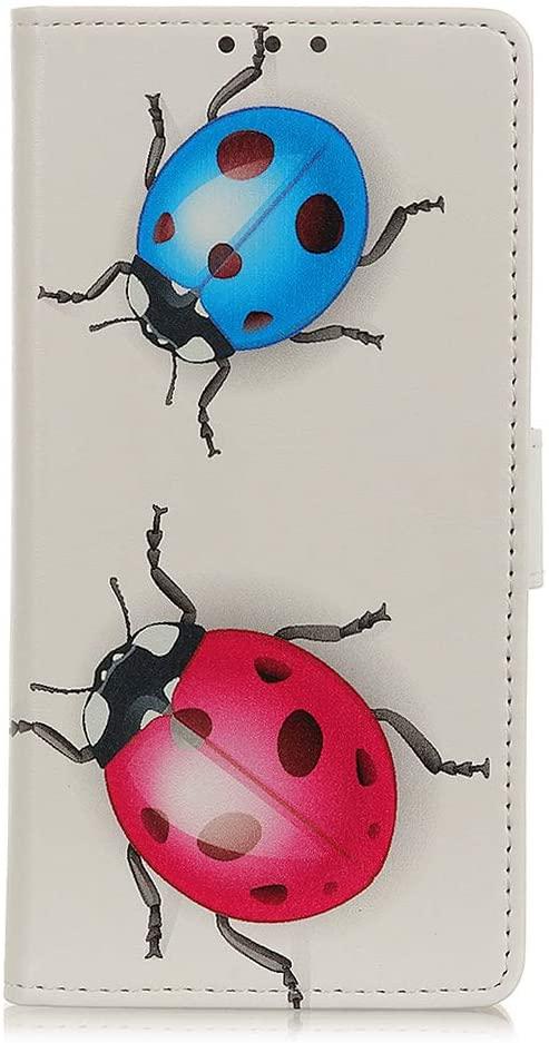 Tznzxm LG Premier Pro Plus Wallet Case, Ladybug Design Kickstand Premium PU Leather Wallet Case Flip Cover with [Card Slots] Magnetic Closure Folding Protective for LG Harmony 4 / LG Premier Pro Plus