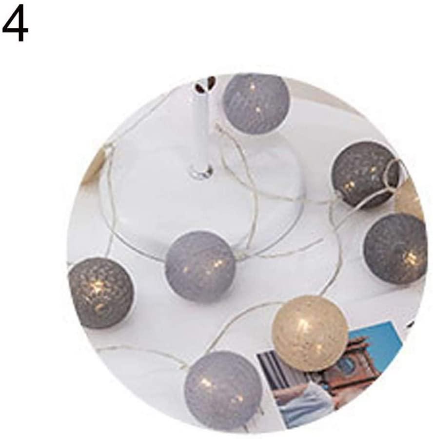 ewrTM Festival Lighting Lamp 3m 20 LEDs Cotton Ball Light Lamp Outdoor Christmas Wedding Party Decor - 4#
