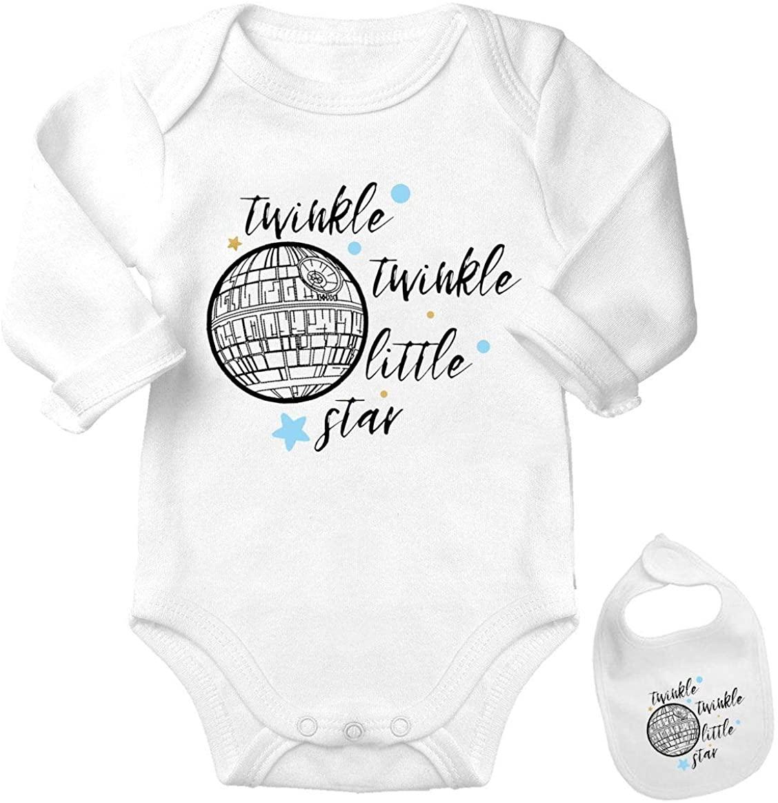 Death Star -Cute Starwars Funny Shirt Newborn Baby Bodysuit Outfit Onesie & Bib