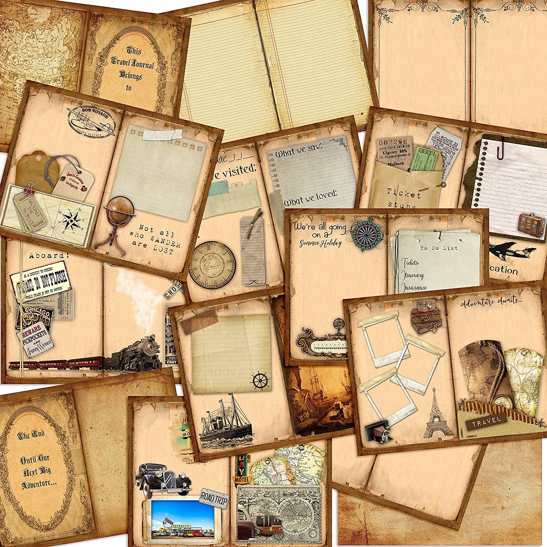 Travel Junkie Junk Journal DIY - EZ Journal 7023