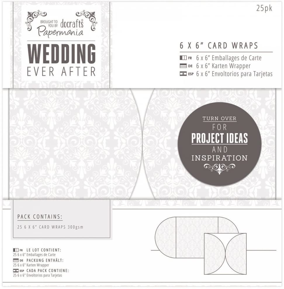 docrafts PMA158120 Papermania Ever After Wedding Card Wraps (25 Pack), 6