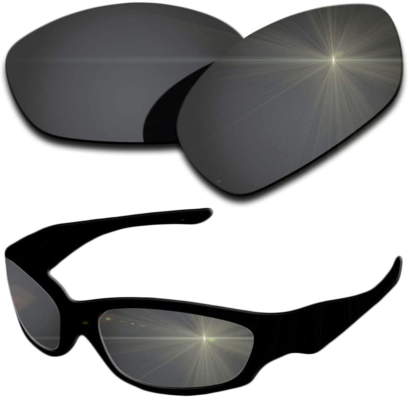 Polarized Replacement Lenses for Oakley Straight Jacket 2007 Sunglasses - Multiple Colors