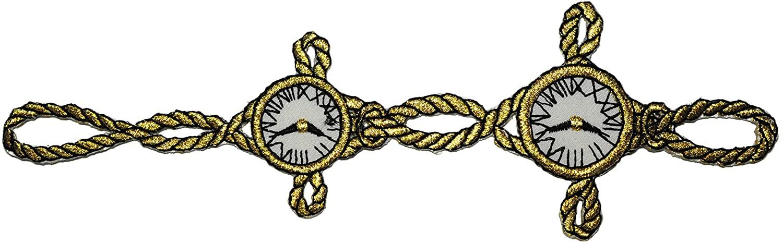 Altotux Gold Metallic Chain Pocket Watch Time Clock Iron On Patch Applique (2