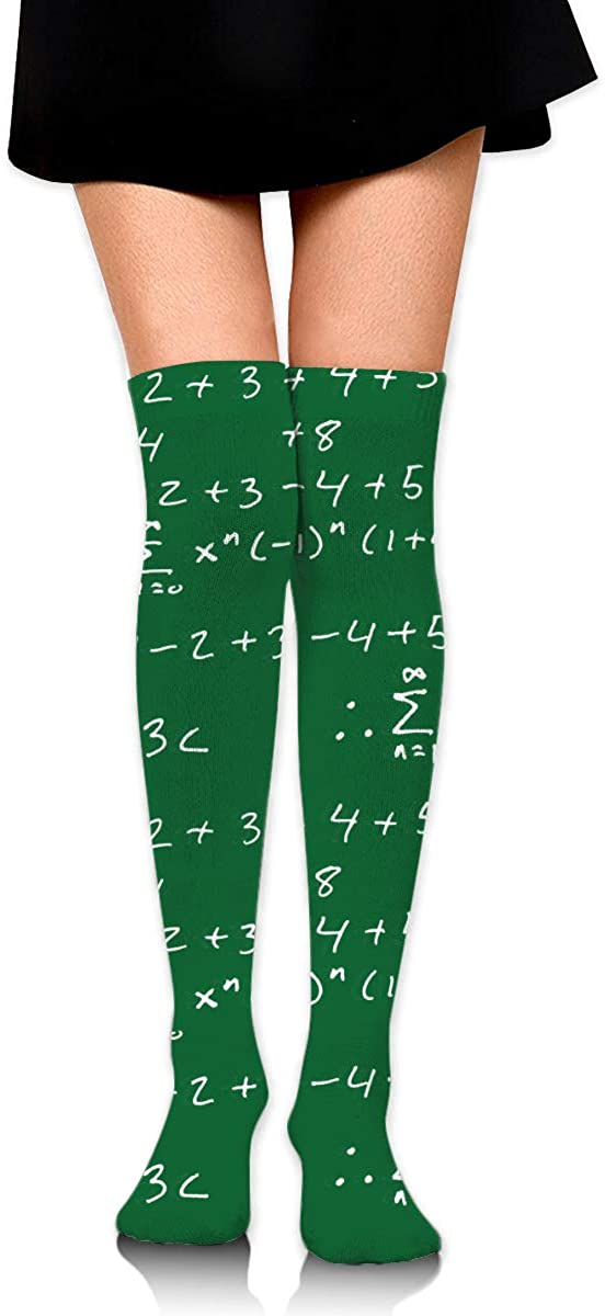 Knee High Socks I Love Math Equation Women's Athletic Over Thigh Long Stockings
