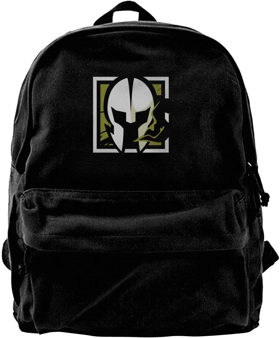 Rainbow Six Siege Canvas Backpack School Laptop Bag Hiking Travel Rucksack Black Unisex Daypack