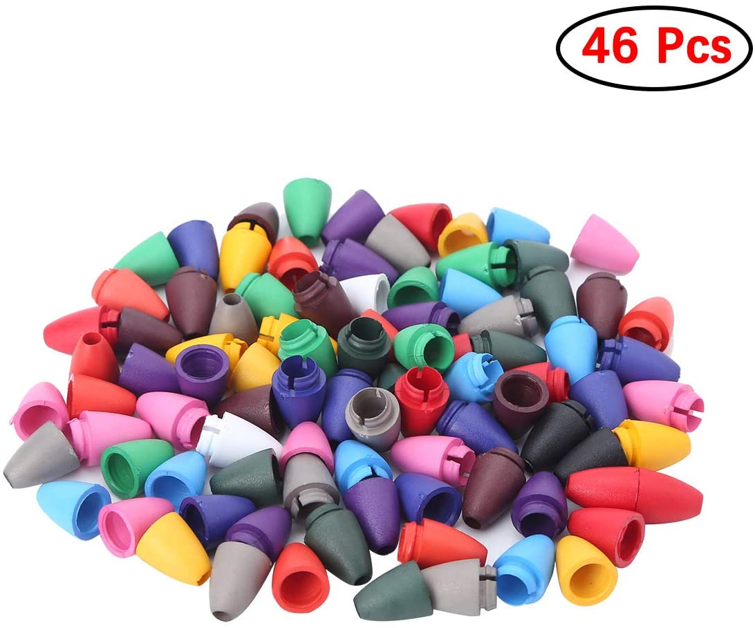 Freebily 46pcs Plastic Lanyard Safety Breakaway Barrel Connectors for Teething Necklace Bracelets Jewelry DIY Craft Making Assorted Color One Size