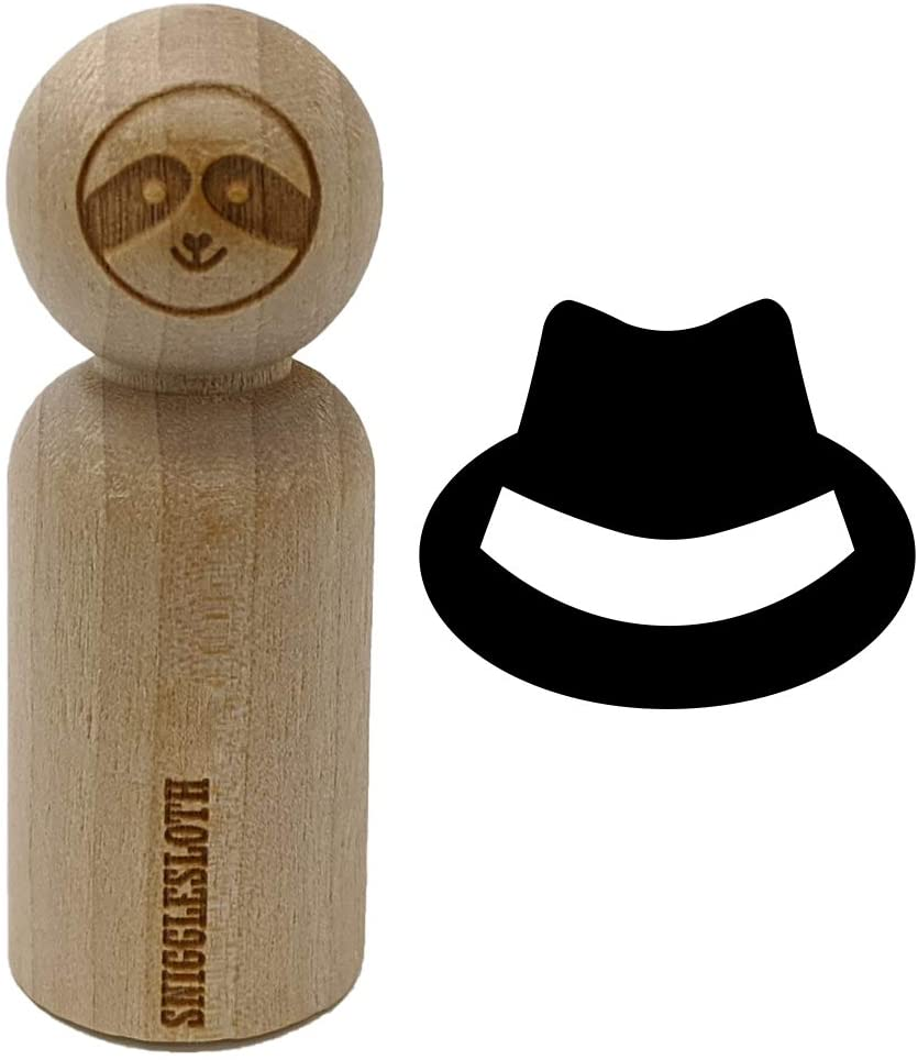 Fedora Hat Rubber Stamp for Stamping Crafting Planners - 3/4 Inch Small