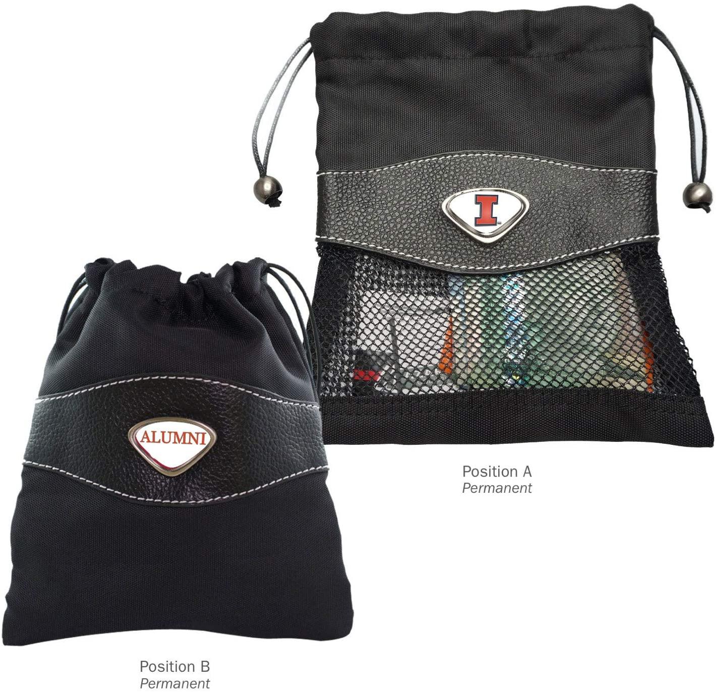 AdSpec NCAA Illinois Illini Collegiate Valuables BagCollegiate Valuables Bag, Black, One Size